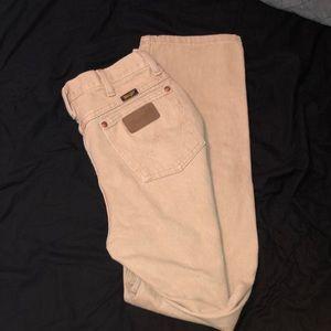 Wrangler Cowboy cut slim fit khaki jeans